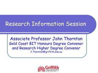 Research Information Session
