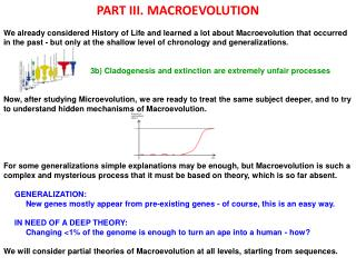 PART III. MACROEVOLUTION