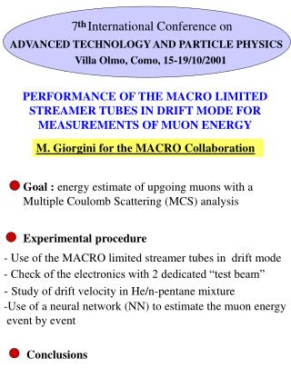 PERFORMANCE OF THE MACRO LIMITED STREAMER TUBES IN DRIFT MODE FOR MEASUREMENTS OF MUON ENERGY