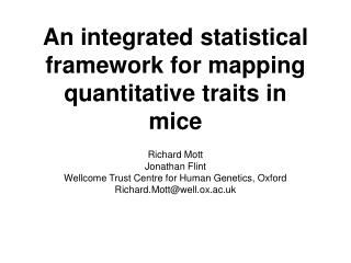 An integrated statistical framework for mapping quantitative traits in mice