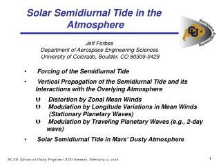 Solar Semidiurnal Tide in the Atmosphere