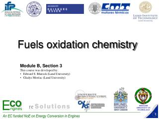 Fuels oxidation chemistry