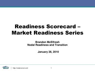 Readiness Scorecard – Market Readiness Series