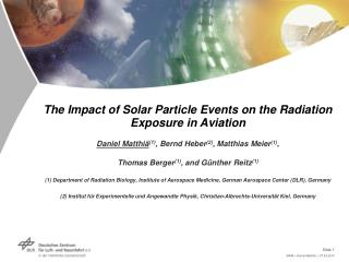 The Impact of Solar Particle Events on the Radiation Exposure in Aviation