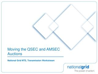 Moving the QSEC and AMSEC Auctions