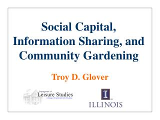 Social Capital, Information Sharing, and Community Gardening