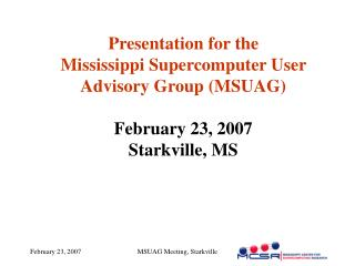 MCSR News Supercomputers Software MyMCSR Research Education User Feedback/Discussion