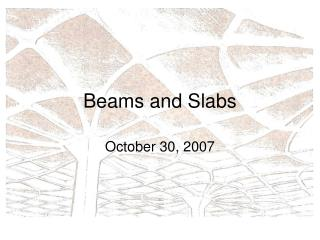 Beams and Slabs