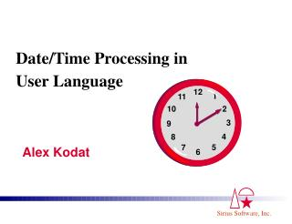 Date/Time Processing in User Language