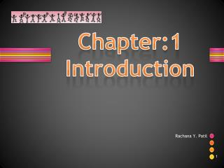 Chapter:1 Introduction
