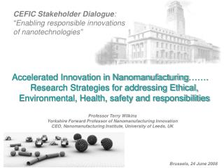"CEFIC Stakeholder Dialogue : ""Enabling responsible innovations  of nanotechnologies"""