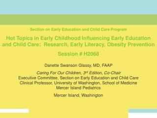 Section on Early Education and Child Care Program
