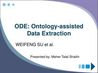 ODE: Ontology-assisted Data Extraction