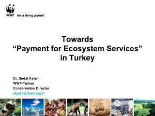 "Towards  ""Payment for Ecosystem Services""  in Turkey"