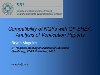 Compatibility of NQFs with QF-EHEA: Analysis of Verification Reports