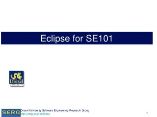 Eclipse for SE101