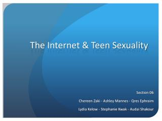 The Internet & Teen Sexuality