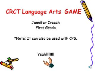 CRCT Language Arts  GAME