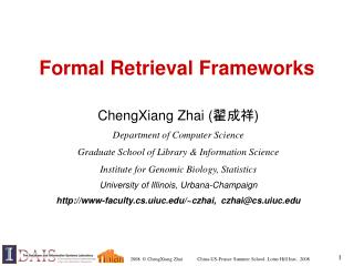 Formal Retrieval Frameworks