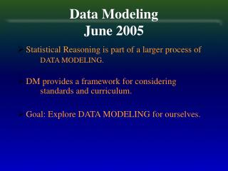 Data Modeling  June 2005