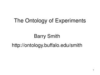 The Ontology of Experiments