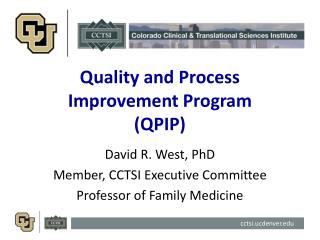 Quality and Process Improvement Program (QPIP)