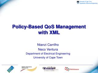 Policy-Based QoS Management with XML