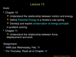 Chapter 10: Energy and Work 11