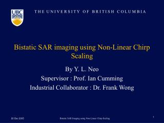 Bistatic SAR imaging using Non-Linear Chirp Scaling