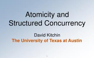 Atomicity and  Structured Concurrency