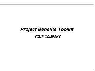 Project Benefits Toolkit