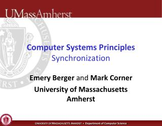 Computer Systems Principles Synchronization