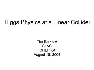 Higgs Physics at a Linear Collider