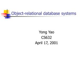 Object-relational database systems