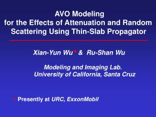 AVO Modeling for the Effects of Attenuation and Random Scattering Using Thin-Slab Propagator