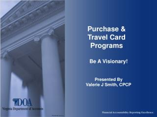 Purchase & Travel Card Programs