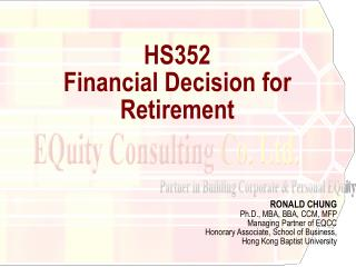 HS352  Financial Decision for Retirement