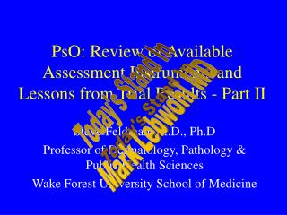 PsO: Review of Available Assessment Instruments and Lessons from Trial Results - Part II