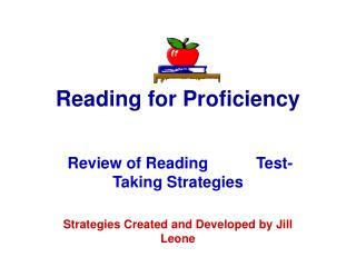 Reading for Proficiency