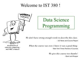 Welcome to IST 380 !