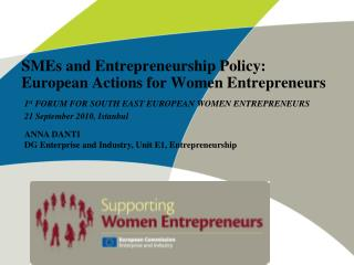 SMEs and Entrepreneurship Policy: European Actions for Women Entrepreneurs