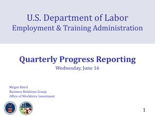 U.S. Department of Labor Employment & Training Administration