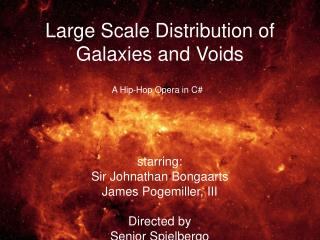 Large Scale Distribution of Galaxies and Voids