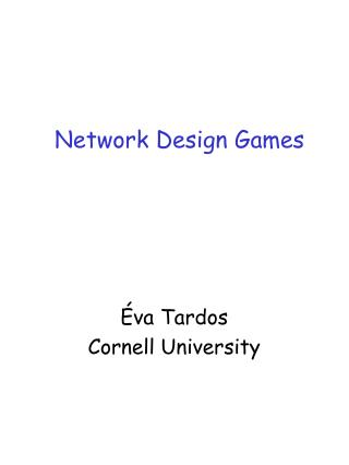 Network Design Games
