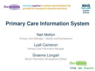 Primary Care Information System