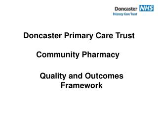 Doncaster Primary Care Trust Community Pharmacy