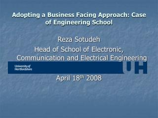 Adopting a Business Facing Approach: Case of Engineering School