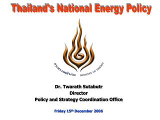Thailand's National Energy Policy