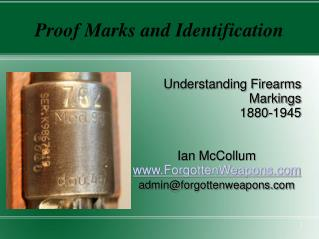 Proof Marks and Identification