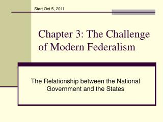 Chapter 3: The Challenge of Modern Federalism